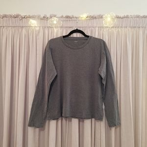 Grey Uniqlo long sleeve shirt